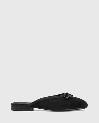 Wittner - Women's Black Loafers - Ademar Suede Leather Round Toe Mules - Size One Size, 35 at The Iconic