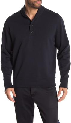 Vince Shawl Collar Henley Sweatshirt
