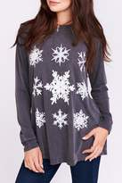 Show Me Your Mumu Snowflake Long Sleeve Top