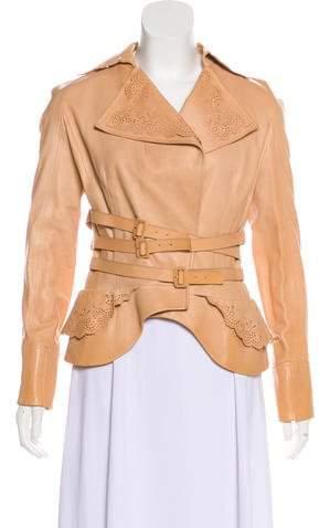 Christian Dior Leather Laser-Cut Jacket