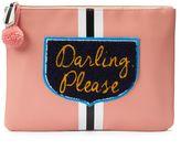 Tricoastal Design Tri-Coastal Design ''Darling Please'' Oversized Pouch Cosmetic Bag