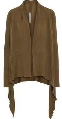 Rick Owens Asymmetric Ribbed-paneled Wool Cardigan
