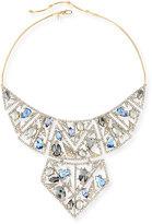 Alexis Bittar Crystal Mosaic Lace Bib Necklace