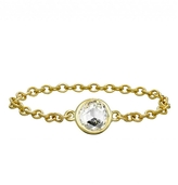 Finn Rose Cut Chain Ring - Yellow Gold
