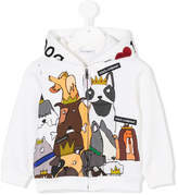 Dolce & Gabbana Dogs print zipped hoodie
