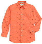 Nordstrom Lobster Print Dress Shirt (Big Boys)