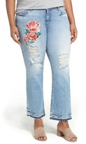KUT from the Kloth Plus Size Women's Reese Ripped Straight Leg Jeans