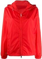Moncler Hooded Zip-Up Coat