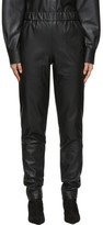 Tibi Black Faux-Leather Pull-On Trousers