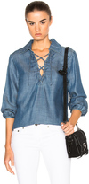 Frame Lace Up Top