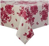 Sur La Table Red Floral Teflon Tablecloth