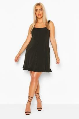 boohoo Plus Ruffle Hem Sun Dress