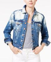 Lucky Brand Sescape Wash Bleached Denim Trucker Jacket