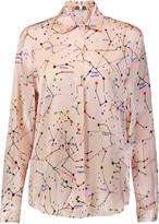 MSGM Printed satin shirt