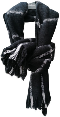 Barbour Black Polyester Scarves