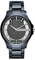 Armani Exchange Stainless Steel Blue IP Analog Watch