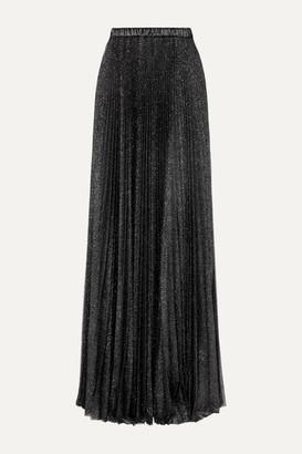 Philosophy di Lorenzo Serafini Pleated Glittered Tulle Maxi Skirt - Black