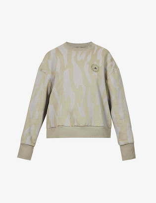 adidas by Stella McCartney College cotton and recycled polyester-blend sweatshirt