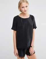 Just Female Quil Lace Trim T-Shirt