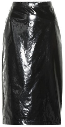 N°21 Lacquered cotton pencil skirt
