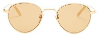 Gucci Round Metal Sunglasses - Gold