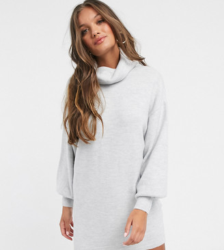 ASOS DESIGN Petite roll neck mini dress