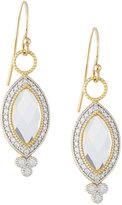 Jude Frances 18K YG Provence Pave Diamond & Topaz Marquise Dangle & Drop Earrings