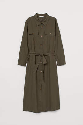 H&M Twill shirt dress