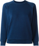 MAISON KITSUNÉ printed sleeve sweatshirt - women - Cotton - XS