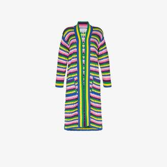 Mira Mikati stripe knitted long cardigan