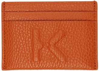 Kenzo Orange Imprint Card Holder