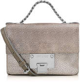 Jimmy Choo REBEL SOFT MINI Navy Metallic Grainy Goat Leather Cross Body Bag