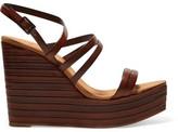 Castaner Valerie Leather Wedge Sandals
