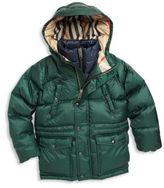 Burberry Little Boy's & Boy's Petter Hooded Down Puffer Jacket