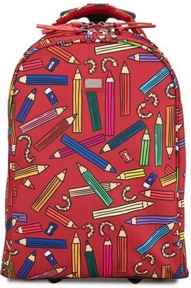 Dolce & Gabbana TEEN pencil print suitcase