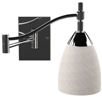 Bloomsbury Market Ancelin Swing Arm Lamp Finish: Dark Rust, Bulb Type: LED