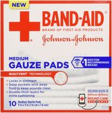 Bandaid First Aid Gauze Pads 3X3 10 ct