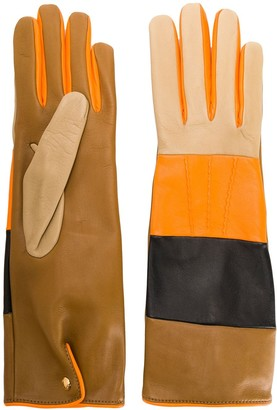 Burberry colour-block striped gloves