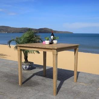 Ducan Wooden Bar Table Highland Dunes