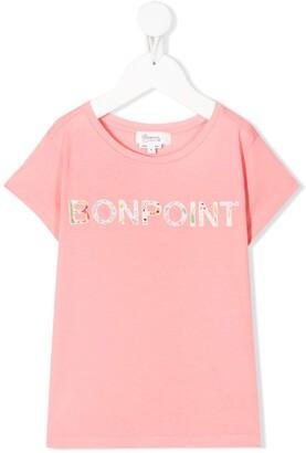 Bonpoint logo patch T-shirt