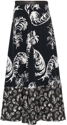 Loewe Feather Printed Maxi-Skirt