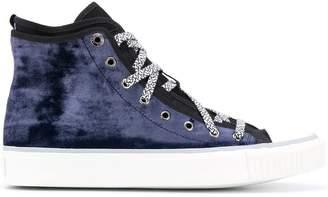 Lanvin velvet hi-top sneakers