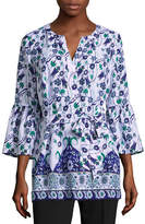 Liz Claiborne Bell Sleeve Belted Tunic
