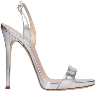Giuseppe Zanotti Sophie Sandals In Silver Leather