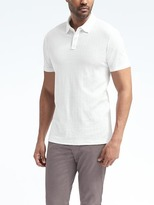 Banana Republic Herringbone Textured Polo