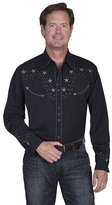 Scully Western Shirt Mens Long Sleeve Snap Star Lacing XL P-853