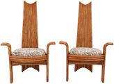 One Kings Lane Vintage Arthur Edwards Bamboo Chairs, Pair
