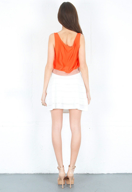 BB Dakota Colorblock Cropped Tank Top -