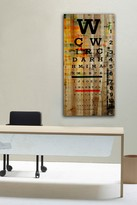 Parvez Taj Eye Chart Natural Pine Wood Wall Art