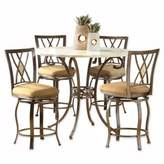 hillsdale brookside dining set. hillsdale furniture brookside 5-piece counter height dining set with diamond stools in brown